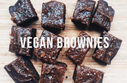 Vegan Salted Caramel Brownies from Jackie Shiu