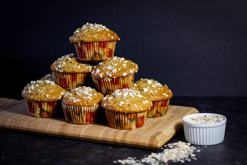 Stacked oatmeal muffins